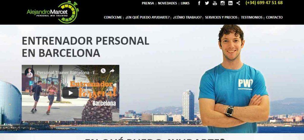 alejandro marcet entrenador personal barcelona