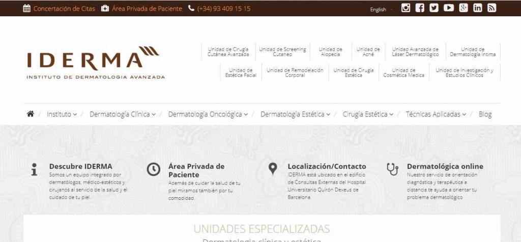 clinica dermatologia barcelona
